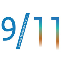 9/11 image using arabic numbers