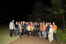 Gathering at Bahai Temple for World Peace