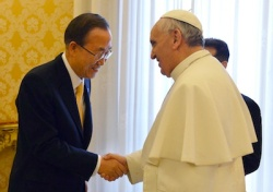 UN Ban Moon with Pope Francis
