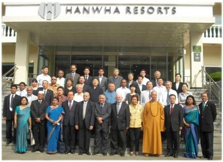 Delegates to the Asian Conference Religions for Peace at Hanwha Resort