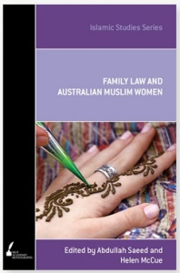 Book Cover, Family Law and Australian Muslim Women
