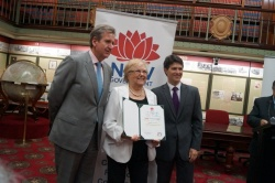 Josie Lacey receiving NSW Lifetime Community Service Award