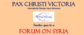 Pax Christi Forum on Syria
