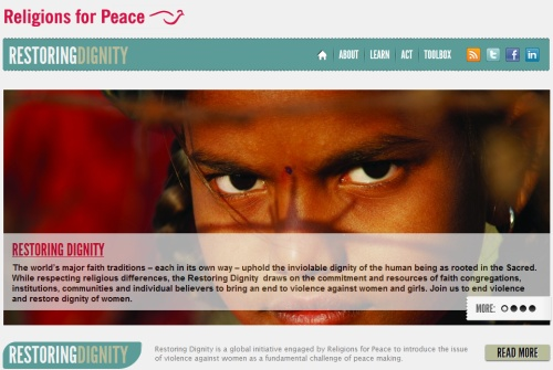 Restoring Dignity, an initiative of Religions for Peace