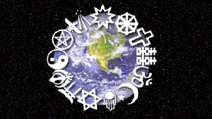 World Religion Logos and Earth