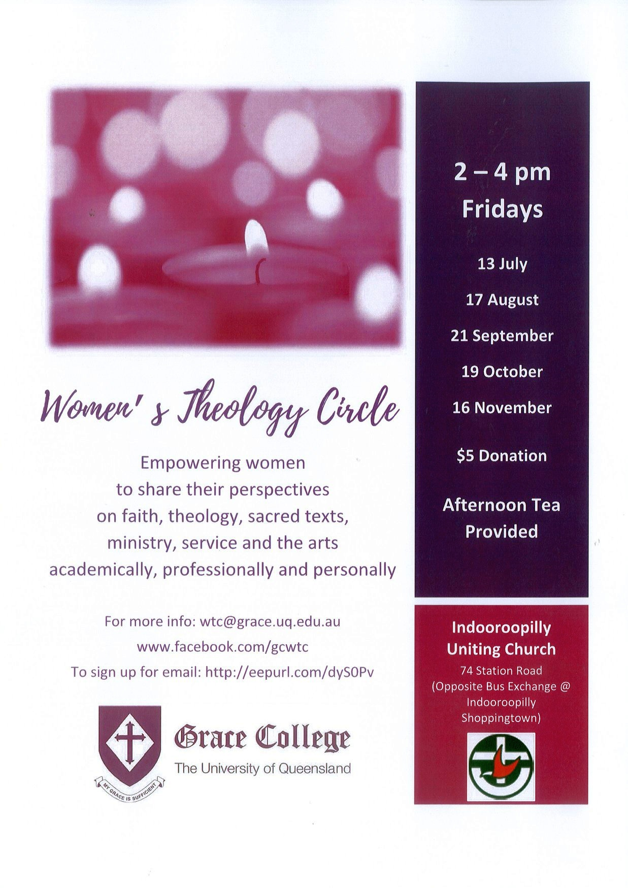 Womens Theology Circle Flyer