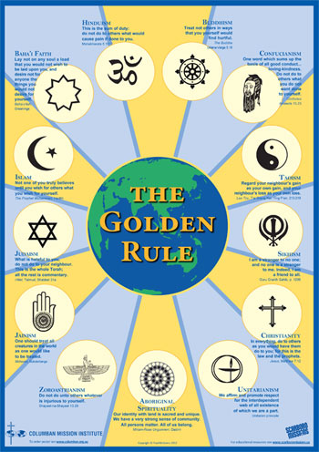 Golden Rule Poster, including Australian Aboriginal Ethic