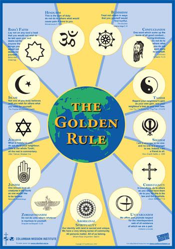 Golden Rule Poster, including Australian Aboriginal Ethic