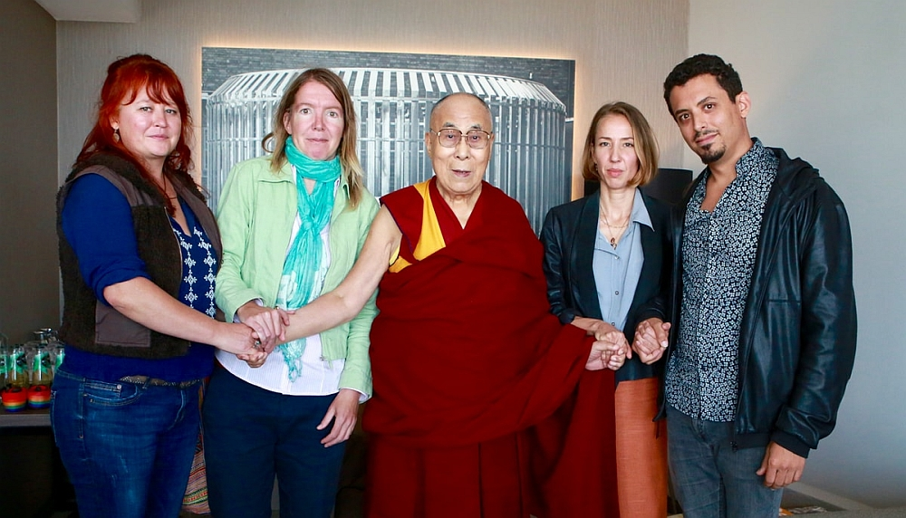Dalai Lama meets survivors of abuse