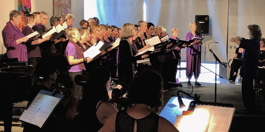 A Chrous of Women sings the Peoples Passion in 2018
