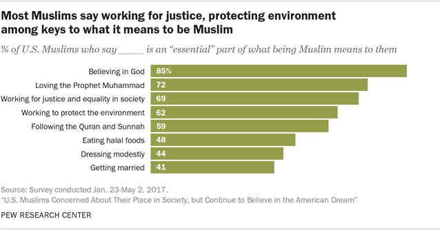 Pew Research about US Muslims concerns in society