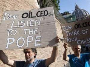 Protesters - Listen to the Pope