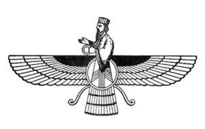 farokhar, symbol of Zoroastrian religion