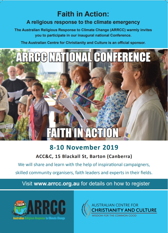 Australian Religious Response to Climate Change Conference Flyer