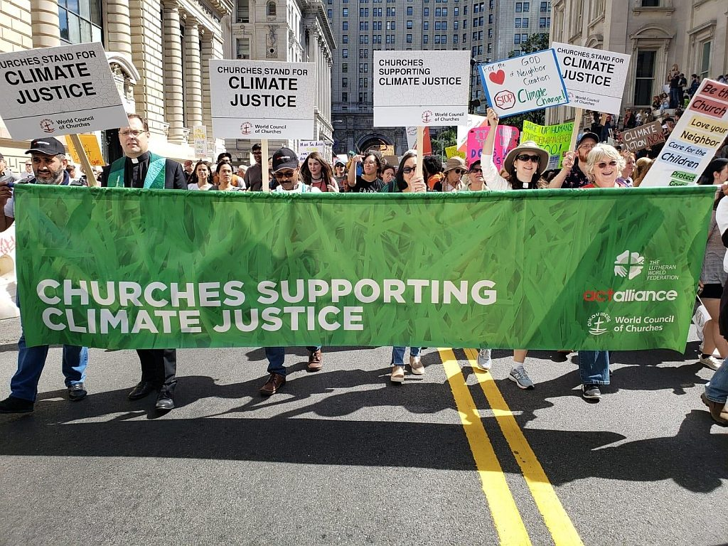 Churches march for Climate Justice in New York