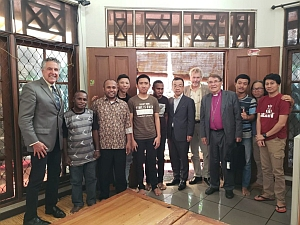 The Interfaith Rainforest Initiative Delegation with indigenous youth leaders