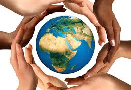 Baha'i logo - hands around the world