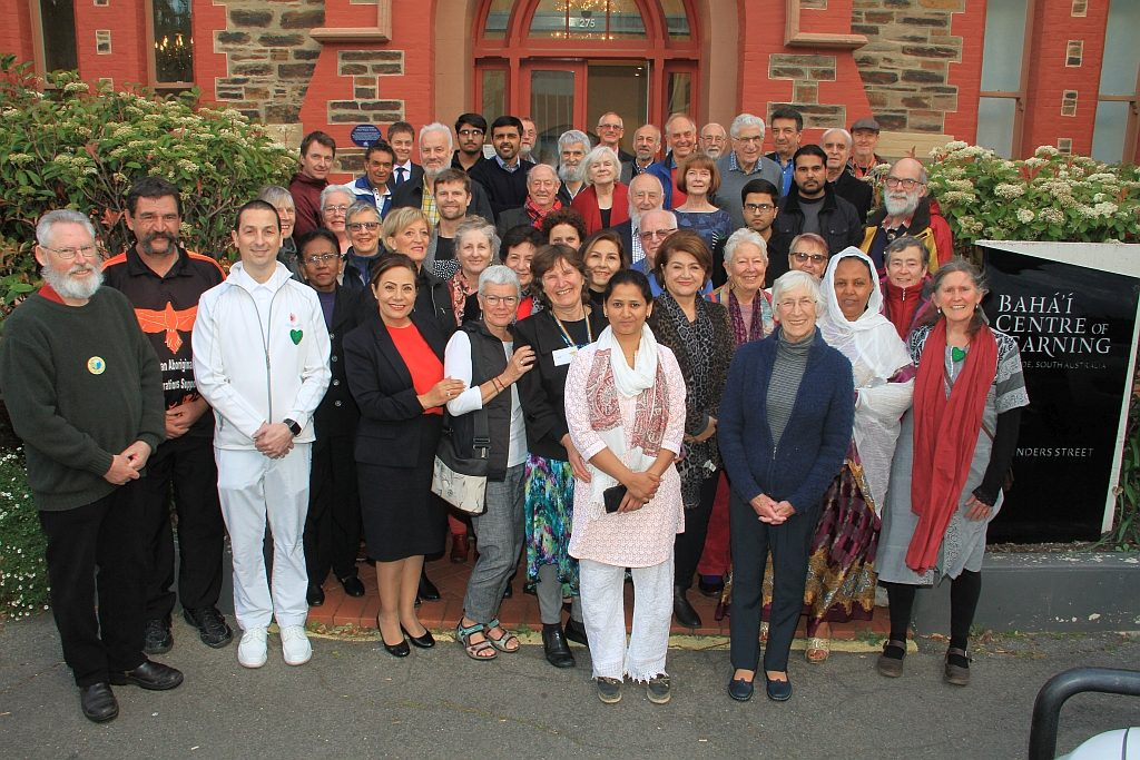 Participants at the International Day of Peace event, Adelaide