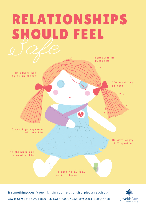Family Violence Poster - Relationships should feel safe