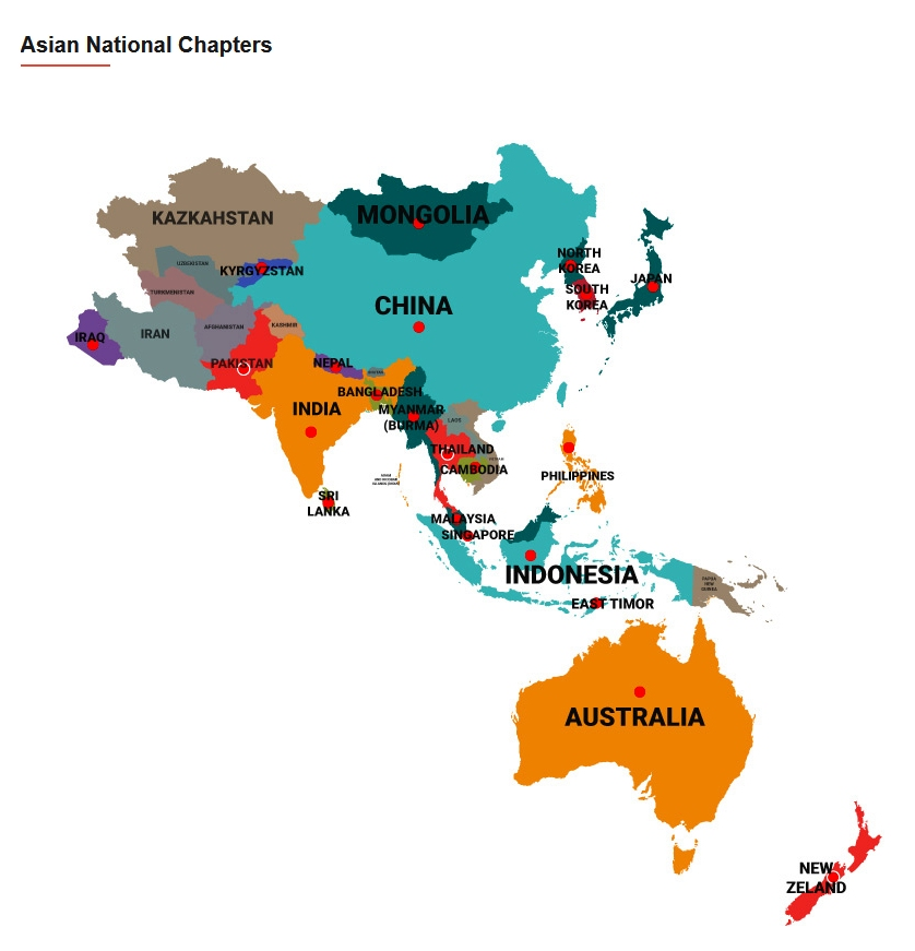Chapters of the Asian Conference of Religions for Peace