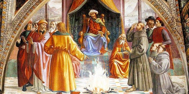 St Francis and the Muslim Sultan of Palestine, Syria, and Egypt: al-Malik al-Kamil