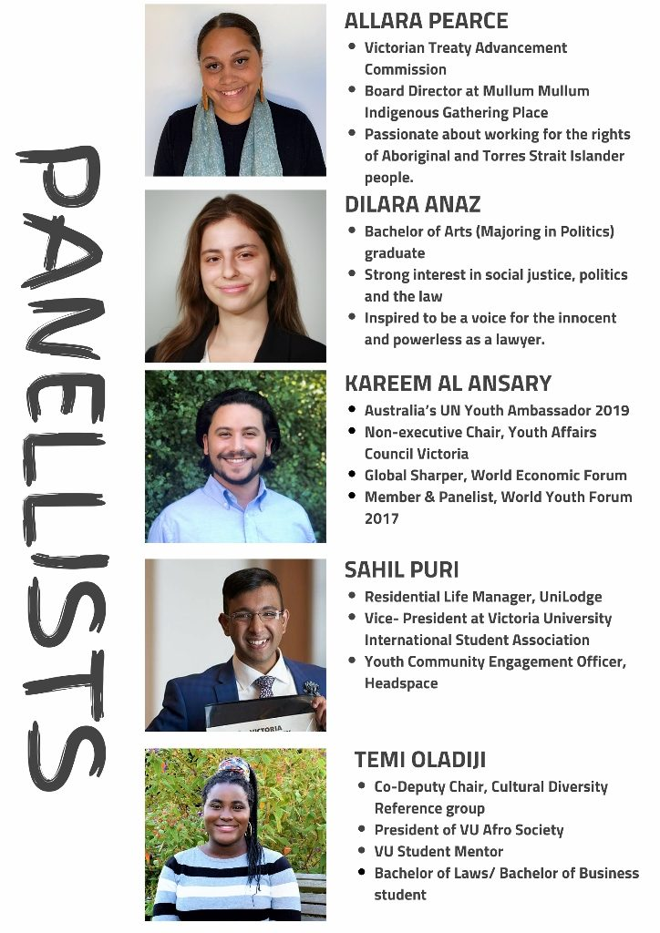 panel-particpants- Victoria University Metro West Youth Forum