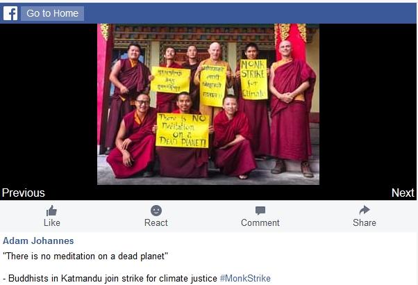 Kathmandu Monks and the Climate strike