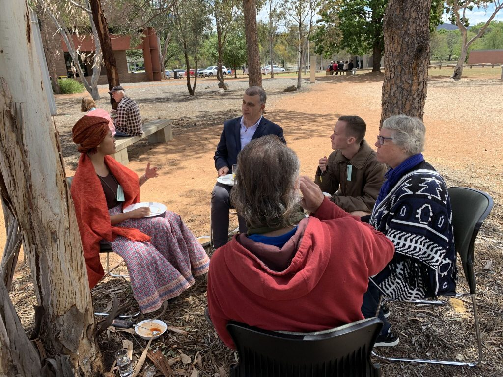 Discussion outside at ARRCC Conference