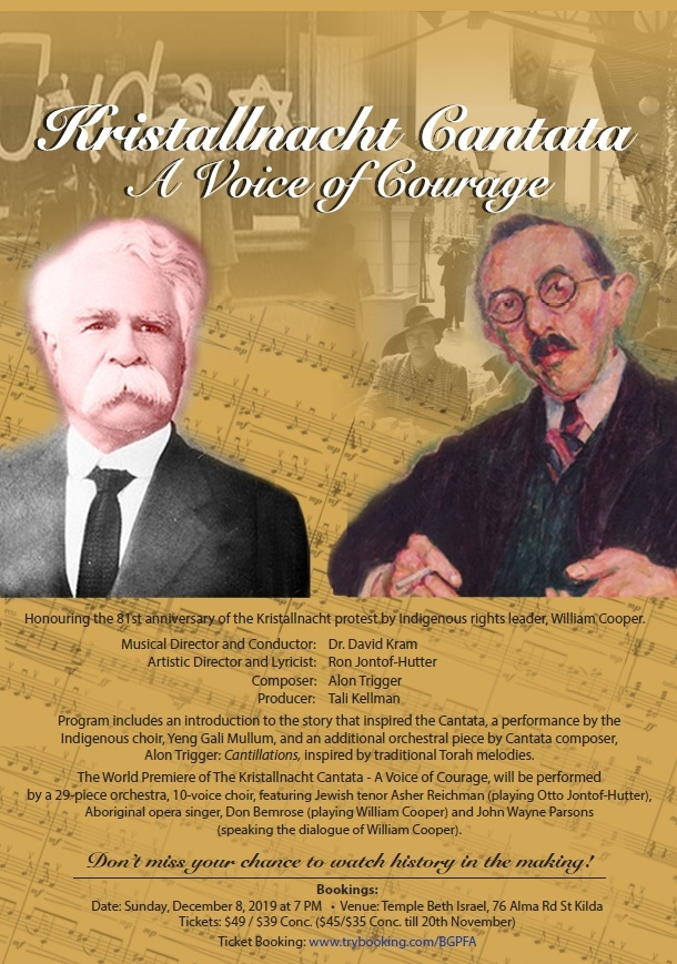"World Premiere ""Kristallnacht Cantata - A Voice Of Courage"