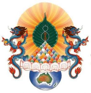 Chenrezig Logo with dragons