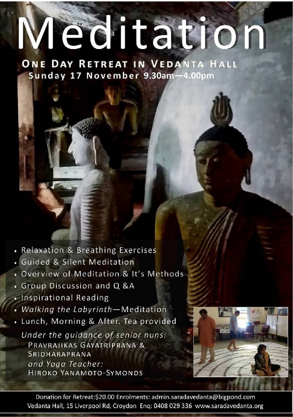Vedanta Society NSW Meditation Retreat