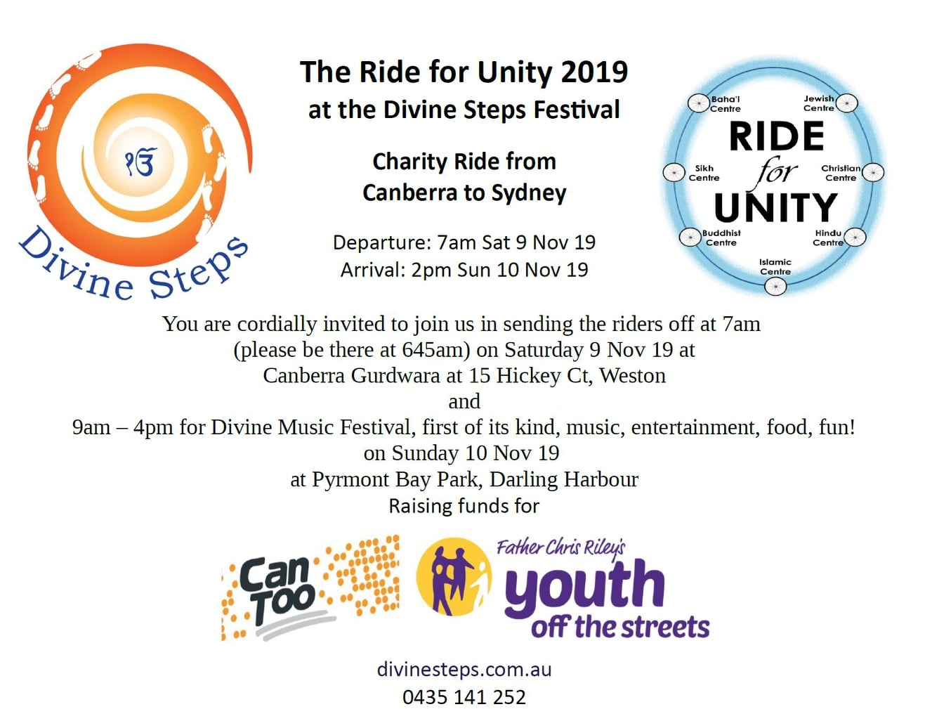 Ride for Unity Flyer