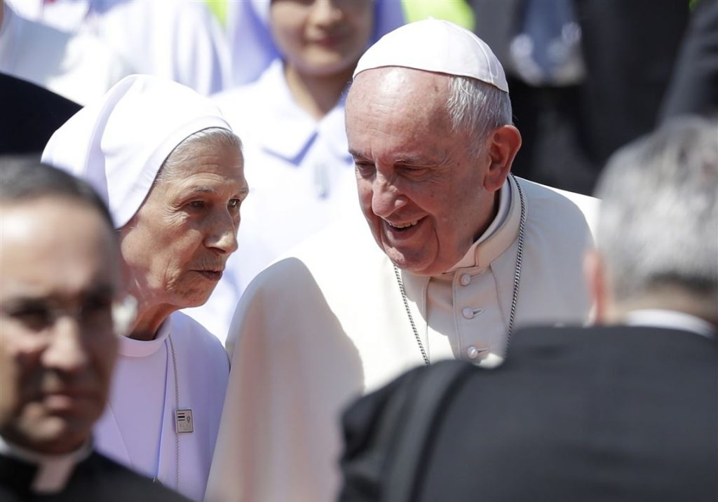Pope Francis with his cousin Sister Ana Sivori