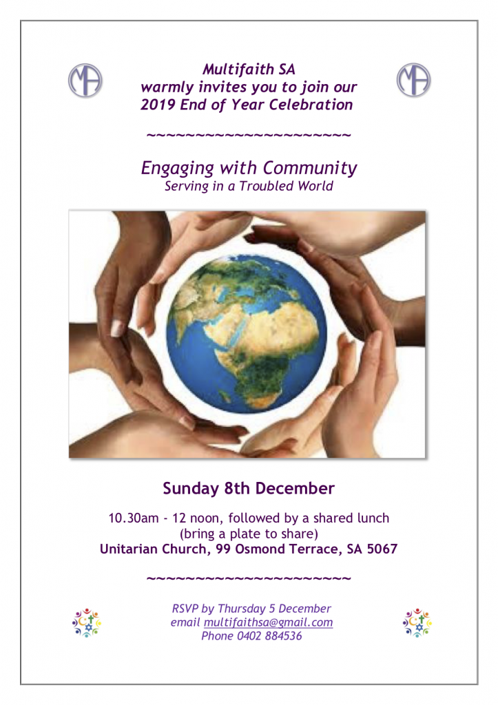 Multifaith Association of South Australia event