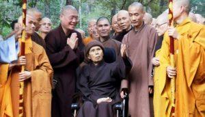 Thich Nhat Hanh in Vietnam in October 2018 via plumvillage.org