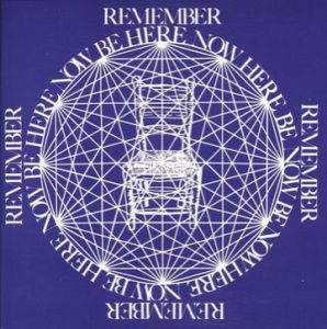 "The cover of ""Be Here Now."""