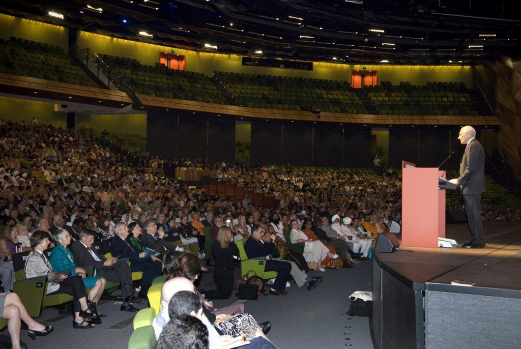 Governor of Victoria, Prof. David Kretzer, opens the 2009 Parliament of the World's Religions, Melbourne