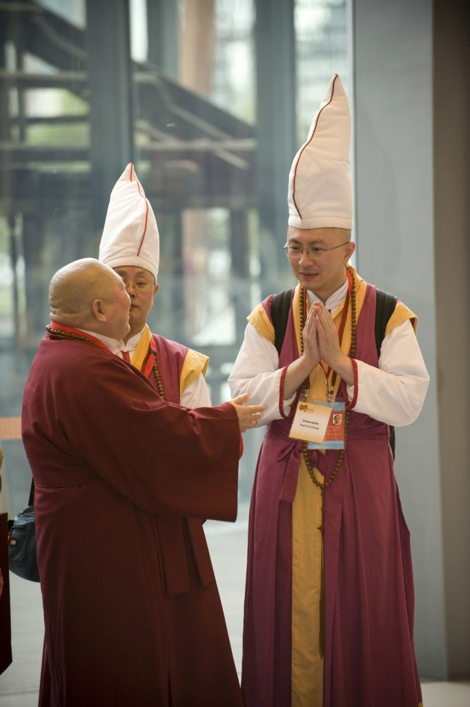 Buddhist Monks from Tasmania at the Melbourne Exhibition Centre - 2009 Parliament of the World's Religions