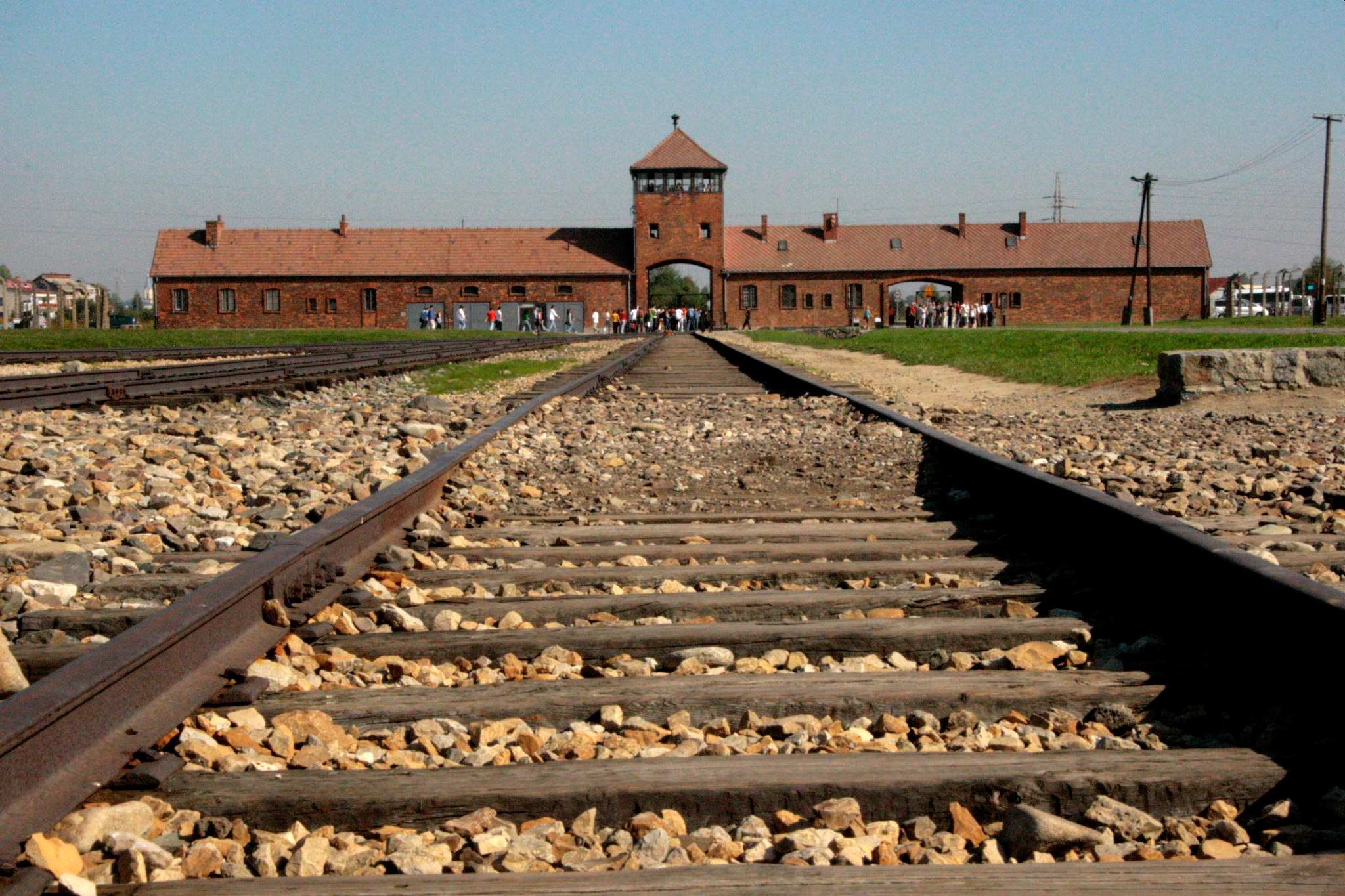 railway into concentration camp