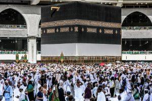 Pilgrims at Makkah