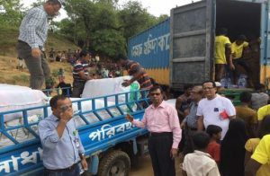 Project for the Rohingya refugees (delivering relief supplies)