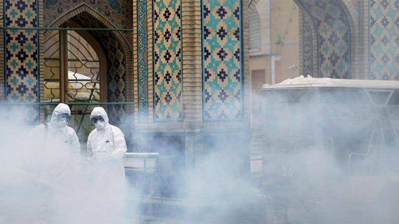 Disinfecting mosque