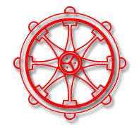 Buddhist Symbol - Wheel of Dharma