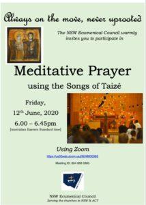 Meditative Prayer using the songs of Taizé