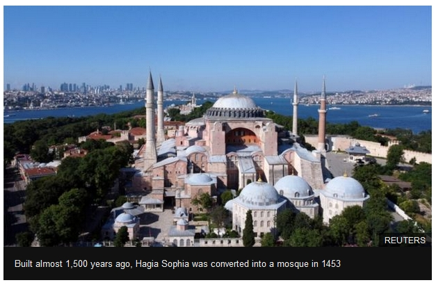 Built almost 1,500 years ago, Hagia Sophia was converted into a mosque in 1453