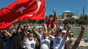 Hagia Sophia: Former Istanbul museum welcomes Muslim worshippers