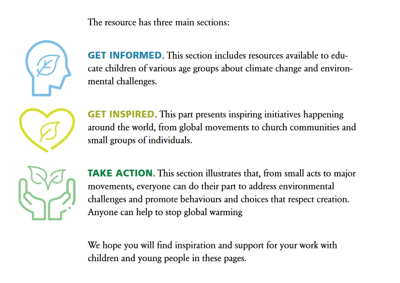 Sections of the Church Climate Toolkit for Children
