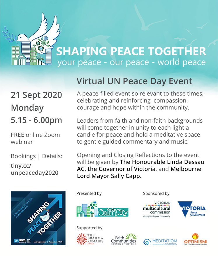 Virtual UN Peace Day Melbourne