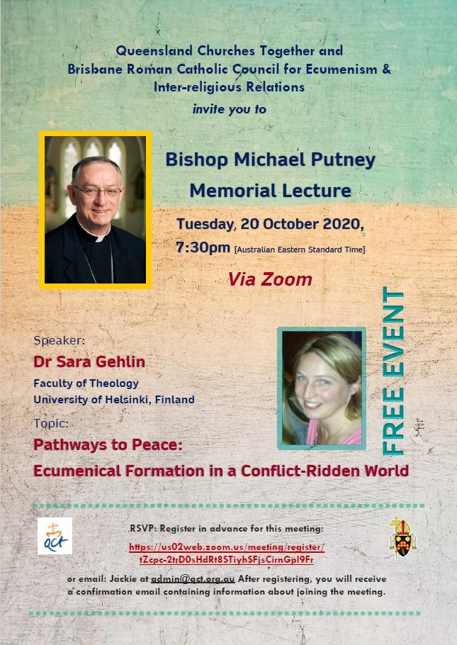 Michael Putney Memorial Lecture 2020