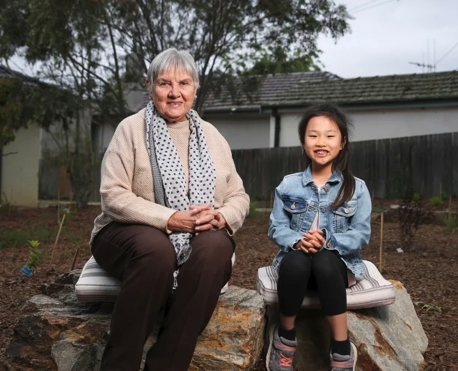 Aunty Pat Anderson and Lilia Tan in Canberra: